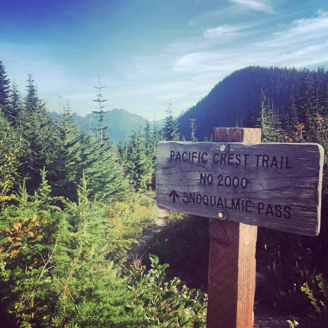 PCT Snoqualmie Sign