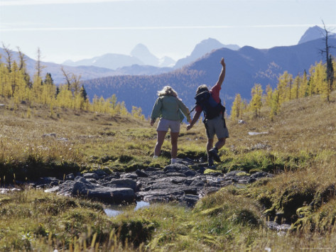 rear-view-of-two-women-hiking